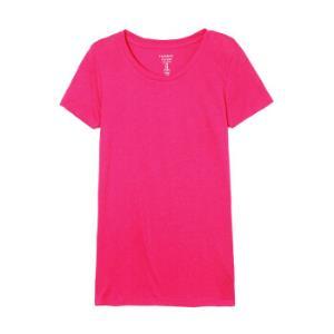 GAP旗舰店女装简洁风格纯色圆领短袖莫代尔基本款T恤646444枚红色XS 33元