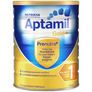 海外Aptamil澳洲爱他美金装婴幼儿奶粉1段(0-6月)900g/罐新西兰原装进口 150元