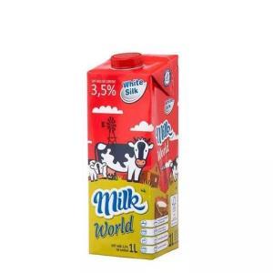 WhiteSilk怀丝全脂纯牛奶常温奶1L*2件 15.36元(合7.68元/件)
