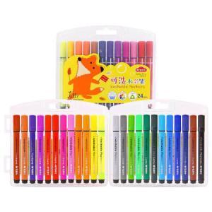 晨光小狐希里系列24色三角杆可水洗水彩笔画笔24支/盒ACPN0273*5件 27.75元(合5.55元/件)