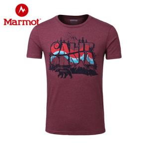 Marmot/土拨鼠春夏新款户外透气圆领棉质男短袖T恤_F44860 89元