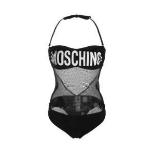 MOSCHINOSwimwear莫斯奇诺女士黑色字母logo图案连体泳衣2A6119550805552码 880元