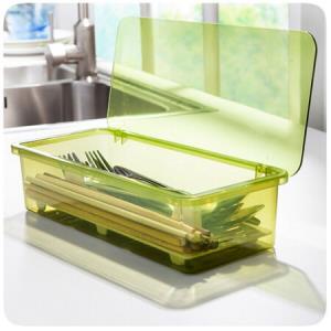 沥水防尘餐具收纳盒筷子盒 16.9元