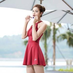 LI-NING李宁女士连体裙式平角泳衣 80元