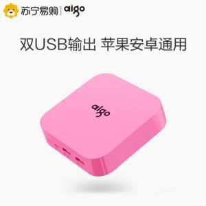 aigo爱国者10000毫安OL10400双USB输出移动电源 49元
