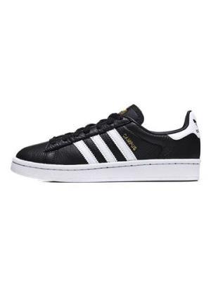 adidas阿迪达斯三叶草男子女子板鞋18CAMPUS休闲运动鞋CQ2073CQ20731号黑色亮白 295元