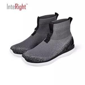 INTERIGHT京东自营男士运动休闲鞋板鞋高帮弹力袜套鞋 69.3元