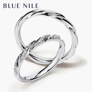 包邮 Blue Nile 涡状戒指14K白金婚戒pt950铂金镶钻女士戒指男士对戒 ¥1550