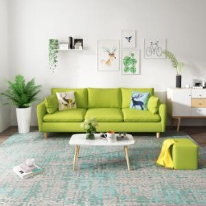 3人位乳胶款实木框架可拆洗客厅整装沙发 1380元