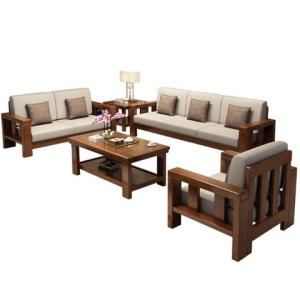 GXIONG公熊全实木沙发1+2+3+长茶几+茶几 3950元包邮(需用券)