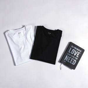 国际奢侈品牌同款面料 丝柔长绒棉 秋季长袖T恤 拍2件 173元