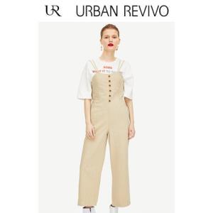 URBAN REVIVO WH07RBKN2003 女士连体牛仔裤  99元
