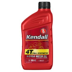 Kendall康度美国原装进口4T摩托车机油四冲程摩托车全合成机油10W-40SL级1L汽车用品*5件+凑单品 150元(合30元/件)