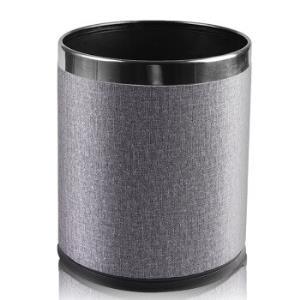 尚岛宜家双层不锈钢垃圾袋桶家用酒店卫生间厨房垃圾筒创意欧式无盖客厅卧室大号办公室纸篓10L25.9元