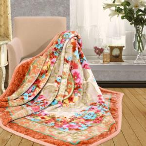 富安娜出品馨而乐毯子双人加大加厚毛毯四季盖毯拉舍尔双层毯甜梦200*230cm239元