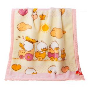 双层加厚保暖拉舍尔绒毯儿童宝宝午睡毛毯子婴儿卡通秋冬季小盖毯 49元