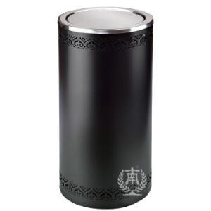南GPX-110K港式镂空花边垃圾桶公用垃圾箱垃圾筒商场酒店果皮桶镂空黑色内桶容量24升317元