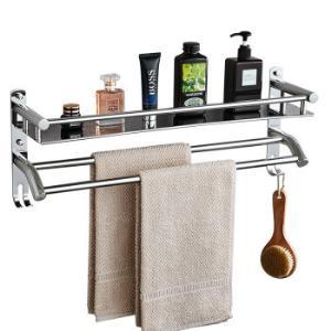 卡贝(Cobbe)浴室置物架304不锈钢毛巾架卫生间单层双杆置物架壁挂浴巾架厕所五金挂件144元