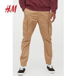 H&M男装裤子工装裤男束脚宽松休闲运动长裤秋装HM0606395__3180元