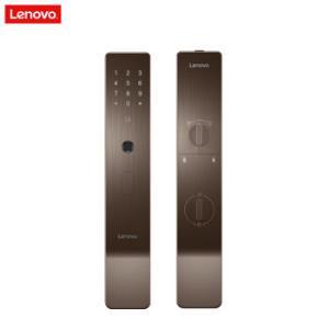 联想Lenovo全自动智能门锁X1指纹锁智能锁电子锁密码锁智能门锁家用防盗门C级锁芯摩卡棕