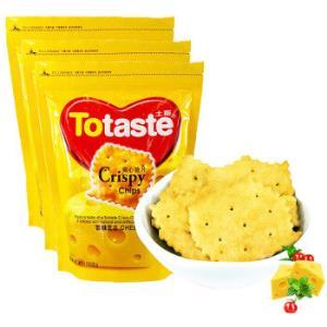 土斯(Totaste)雪融奶酪味爽心脆片饼干芝士味超值量贩装504g/套*4件53.6元(合13.4元/件)
