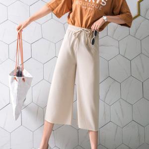 唇束女士针织阔腿九分裤8.9元包邮(需用券)