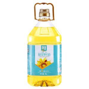 金胜鲜油坊压榨一级葵花籽油4L家庭实惠装山东老字号*4件123.64元(合30.91元/件)