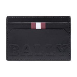 BALLY巴利男士黑色红白条纹皮质卡包卡夹BHARBOLD00496元