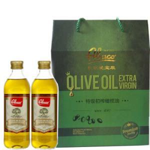 西班牙佰多力(Abaco)特级初榨橄榄油原装进口食用油750ml*2瓶*2件 110.80元(合55.4元/件)