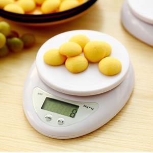 红凡家用厨房秤5kg/1g无托盘 19.9元