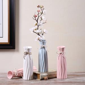 HoataiCeramic华达泰陶瓷简约陶瓷花瓶20.3cmA款粉色 9.9元