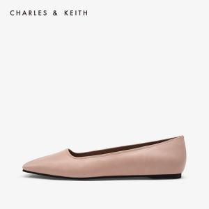 CHARLES&KEITH平底鞋CK1-70920051欧美纯色简约女士方头平底鞋 169元