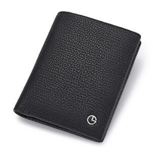 金利来(Goldlion)男士钱包时尚休闲头层牛皮竖款二折钱夹横款皮夹票夹MQ3081043-1291黑竖款 140元