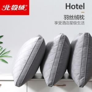 北极绒立体彩绒酒店绗缝枕芯48*74cm单只 39元(需用券)