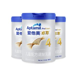 Aptamil爱他美(德国)白金版4段幼儿配方奶粉900g3罐装3-6岁 945元