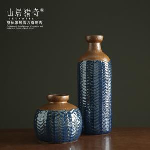 金色复古陶瓷花瓶客厅插花花器美式乡村家居软装饰品小口鱼篓瓶 198元(需用券)
