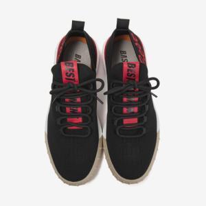 BASTO百思图BZL01CM8黑色纺织物字母系带男休闲鞋 159元