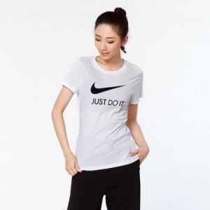 NIKE耐克纯棉轻柔女款印LOGO短袖T恤 67元