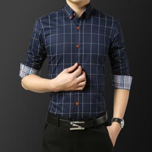 KARALCHI卡郎琪男士薄款长袖格子衬衫*2件 116元(合58元/件)