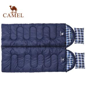 CAMEL骆驼户外1.8KG睡袋2019新款户外旅行露营加厚防寒单人便携隔脏可拼接睡袋 129元