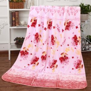 毛毯加厚双层拉舍尔毛毯被单双人盖毯空调午休毯保暖秋冬季毯子4.4斤加厚AYT002粉*3件297元(合99元/件)