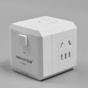 亿卓(OKEACH)魔方插座插排插线板排插开关插座转换插头魔方插座YZ-M801白色 9.9元