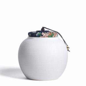 AlfunBel艾芳贝儿C-86-11-10粗陶麻布盖茶叶罐F款白色 69元