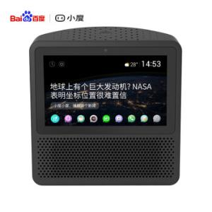 小度在家1S百度智能硬件新一代带屏智能音箱触屏音箱WiFi/蓝牙音响向往的生活同款带娃神器夜空黑    339元