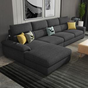 布艺沙发可拆洗双位右贵妃(长2.8米)    2980元