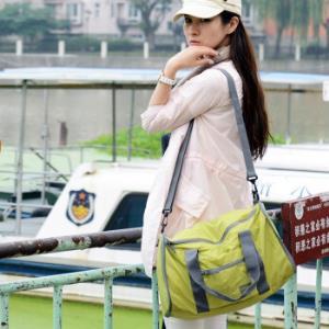 文艺青年旅行包手提包男女运动单肩折叠包大容量旅行袋收纳包 19元包邮(需用券)