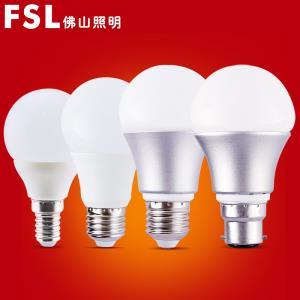 佛山照明 LED灯泡 E27螺口3W 2只   券后2.76元