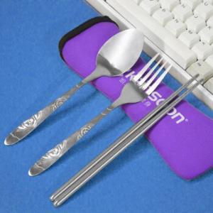 移动专享:凯速便携式不锈钢餐具筷子勺子叉子三件套5.9元包邮(需用券)