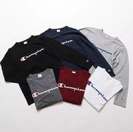 限尺码!日版 Champion 冠军牌 C3-Q401 男士纯棉长袖T恤  143.32元包邮
