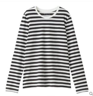 MUJI无印良品W9SB146女士条纹长袖T恤 78元
